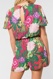 Everly Tropical Print Romper - Side cropped
