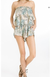 Olivaceous Tropical Print Romper - Product Mini Image