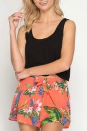 She + Sky Tropical Print Shorts - Product Mini Image