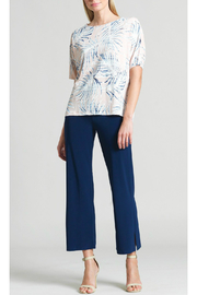 Clara Sunwoo Tropical print soft knit top - Front cropped