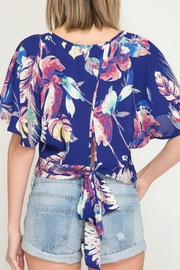 She + Sky Tropical Print Top - Front full body