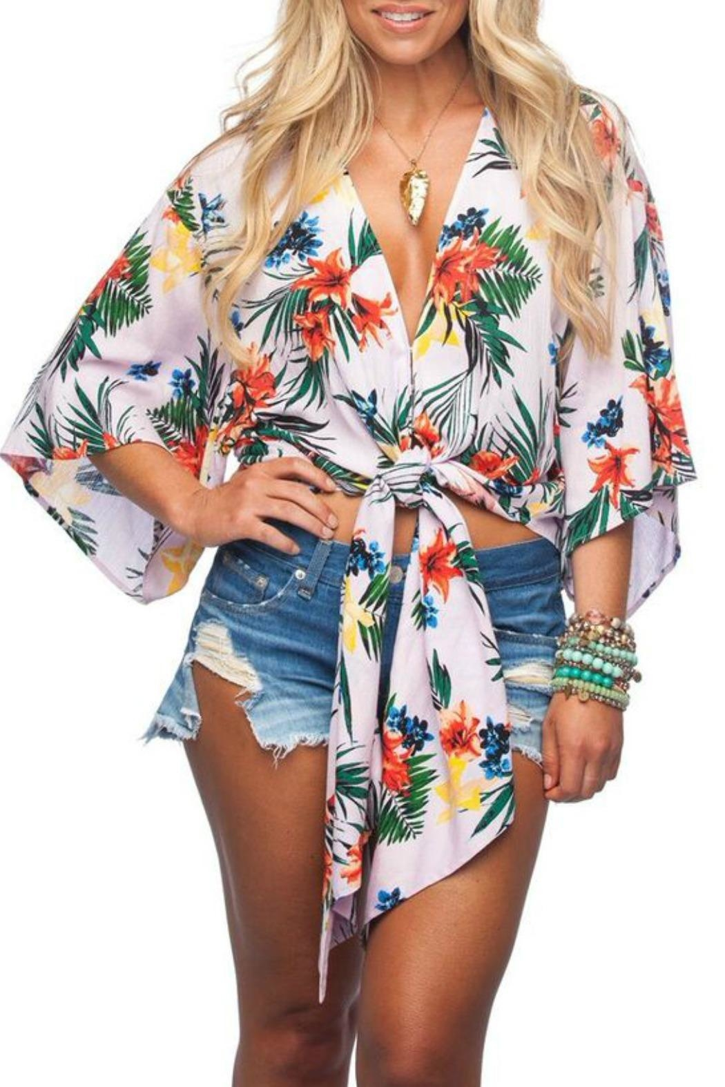 Buddy Love Tropical Print Top - Front Cropped Image