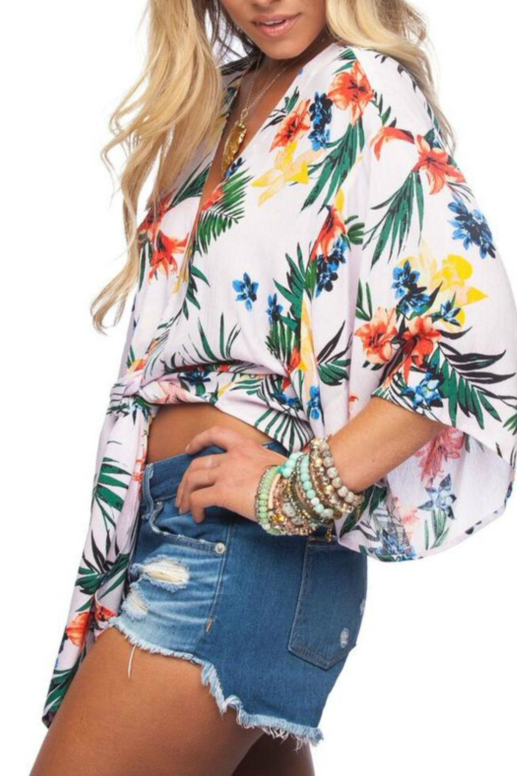 Buddy Love Tropical Print Top - Front Full Image