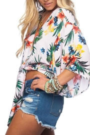 Buddy Love Tropical Print Top - Front full body