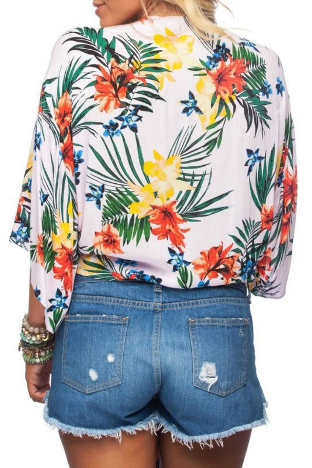 Buddy Love Tropical Print Top - Side Cropped Image