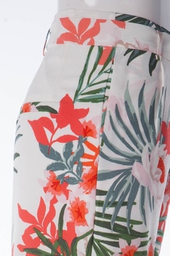Compendium Tropical Print Trousers - Alternate List Image