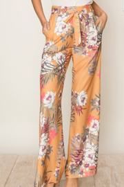 HYFVE Tropical Print Wide Leg Pants - Product Mini Image
