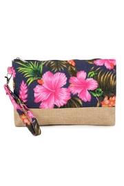 Riah Fashion Tropical-Print Wristlet-Cosmetic-Pouch - Product Mini Image