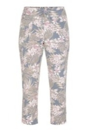Tribal  Tropical Pull On Lounge Capri - Front cropped