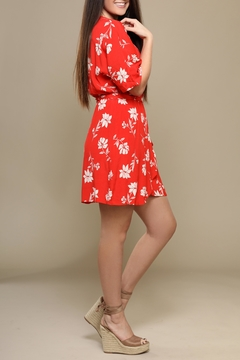 Lush Tropical Red Dress - Alternate List Image