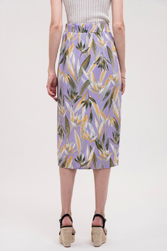 J.O.A. Tropical Ruched Skirt - Alternate List Image