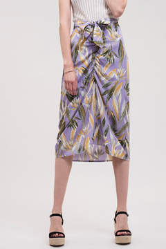 J.O.A. Tropical Ruched Skirt - Product List Image
