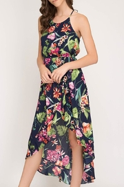 The Vintage Valet Tropical Ruffle Dress - Product Mini Image
