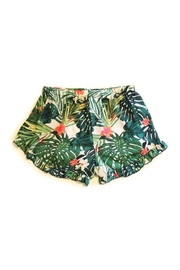 Promesa USA Tropical Ruffle Shorts - Front full body