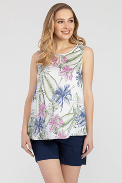 Tribal Jeans  Tropical Sleeveless Blouse - Product List Image