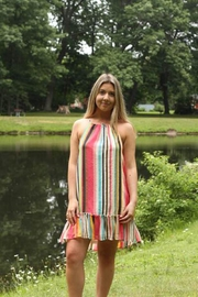 Femme Boutique Boston  Tropical Stripe Dress - Product Mini Image