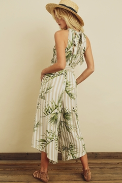 dress forum Tropical Stripe Halter Jumpsuit - Alternate List Image