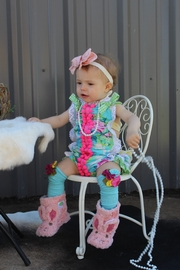Runaway Pony Tropical Sunsuit Romper - Product Mini Image
