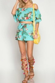 She + Sky Tropical Days shorts - Back cropped