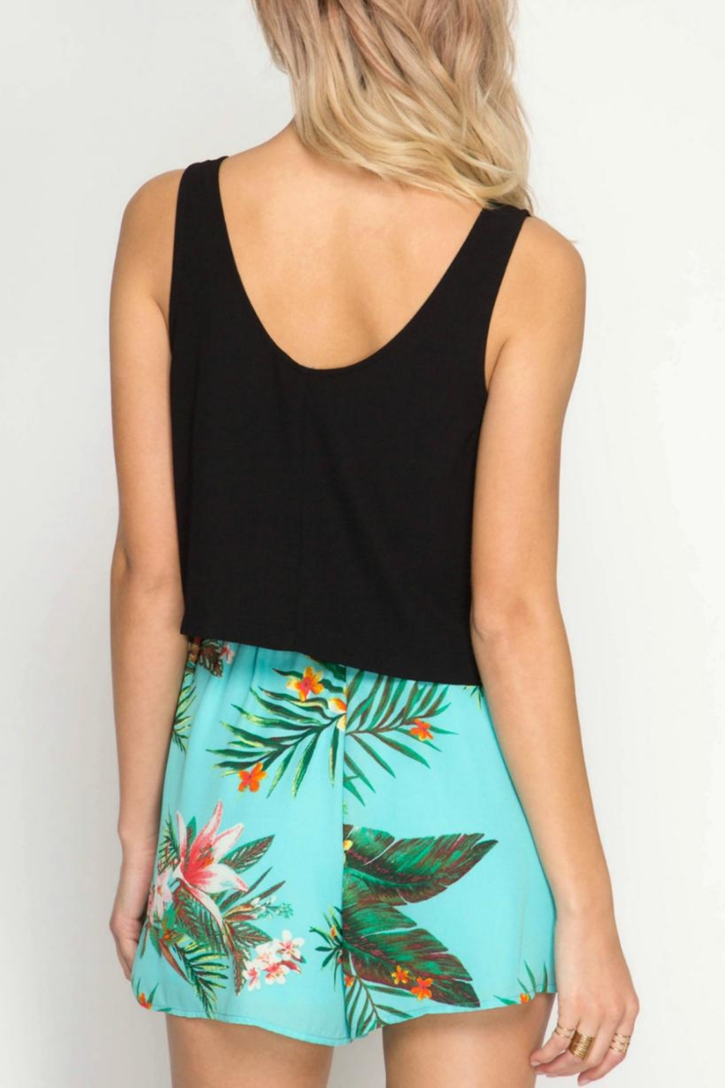 She + Sky Tropical Days shorts - Front Full Image