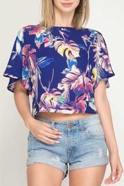 She + Sky Tropical Trend top - Product Mini Image