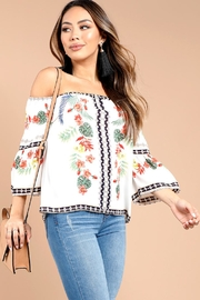 Mine Tropical White Blouse - Product Mini Image