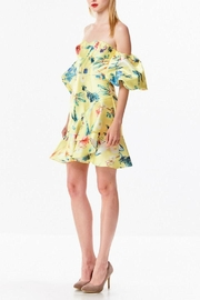 Ina Tropical Yellow Dress - Side cropped