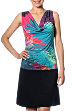 MisMash Tropics Drape Neck Dress - Alternate List Image