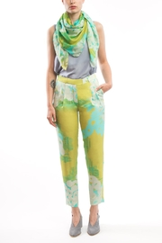Clara Kaesdorf Trousers Yellow Turquoise - Product Mini Image