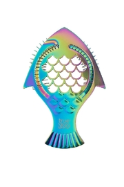 True Fabrications Rainbow Fish Cocktail-Strainer - Front cropped