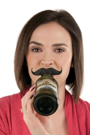 True Fabrications Silicone Bottle Mustaches - Front full body