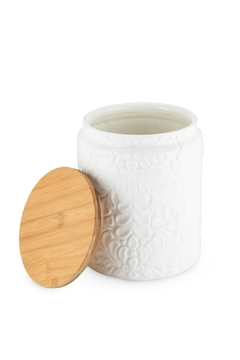 True Fabrications Textured White Canister - Alternate List Image
