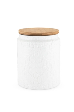 True Fabrications Textured White Canister - Product List Image