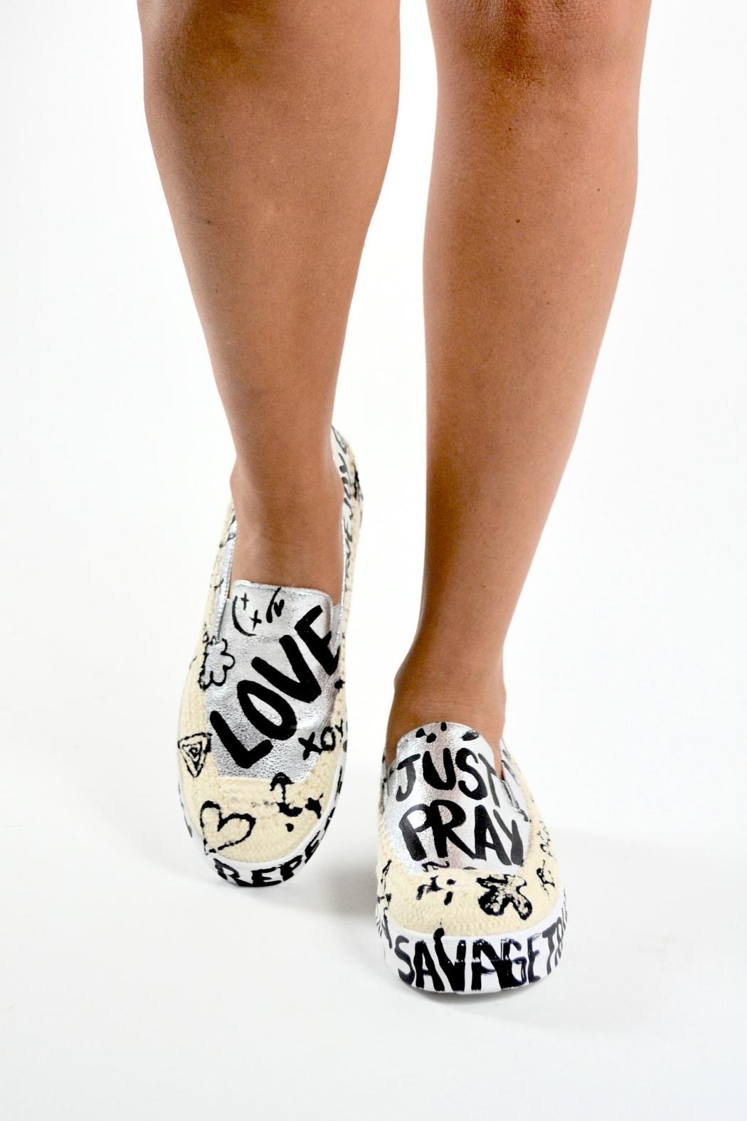 TRUE JOY Hand Painted Shoes - Front Cropped Image