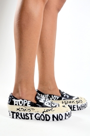 TRUE JOY Hand Painted Shoes - Side cropped