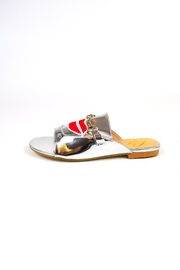 TRUE JOY Silver Lips Slide Sandal - Product Mini Image