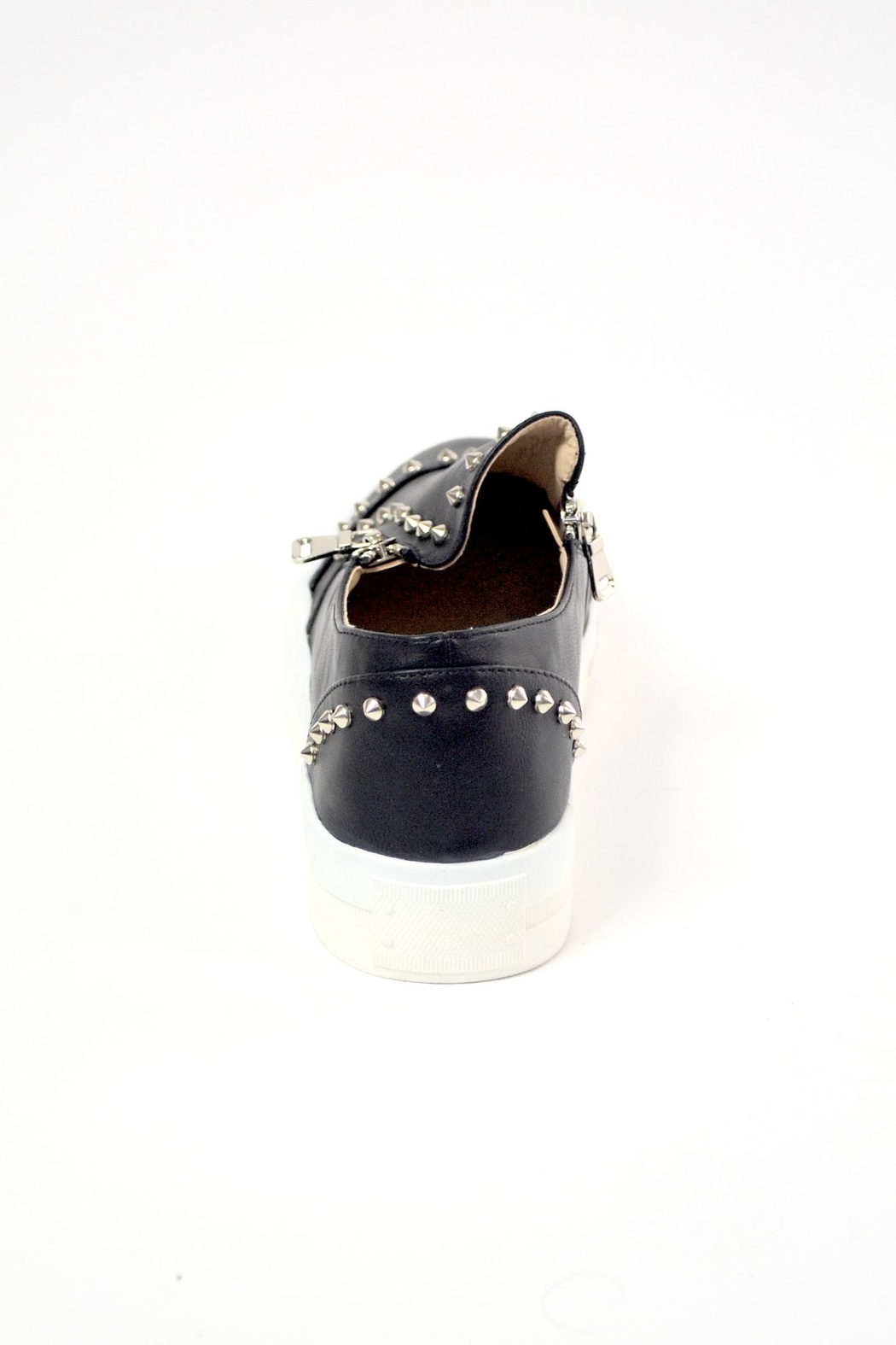 TRUE JOY Zipper Fashion Sneakers - Side Cropped Image