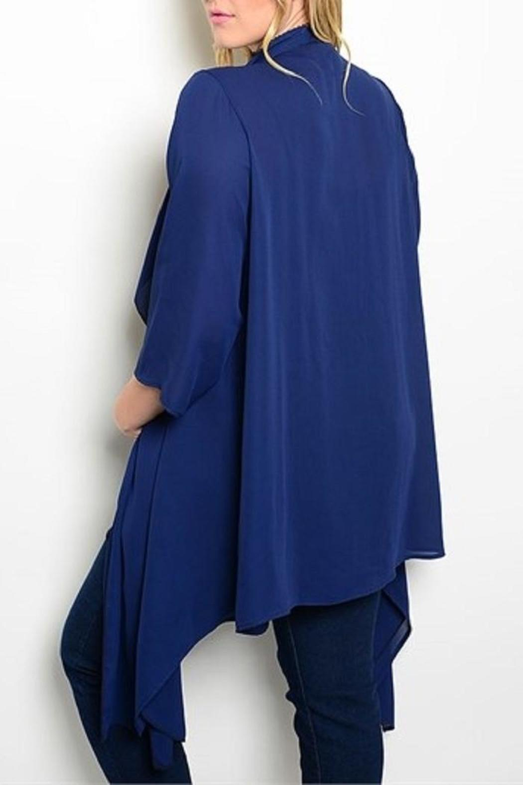 true light Navy Plus Cardigan from Texas by Ooh La La Boutique ...