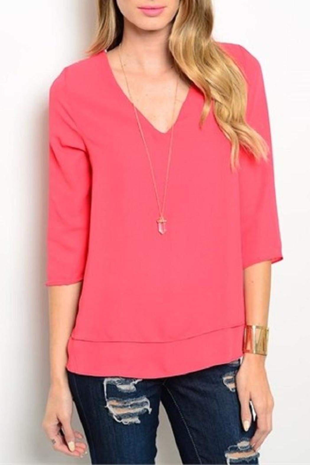 True Light USA Layered Top - Front Cropped Image