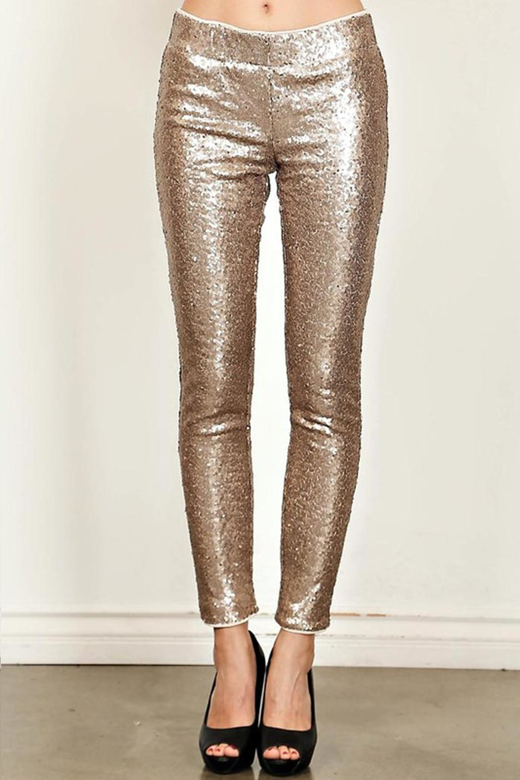 True Love Sequin Skinny Pants - Side Cropped Image