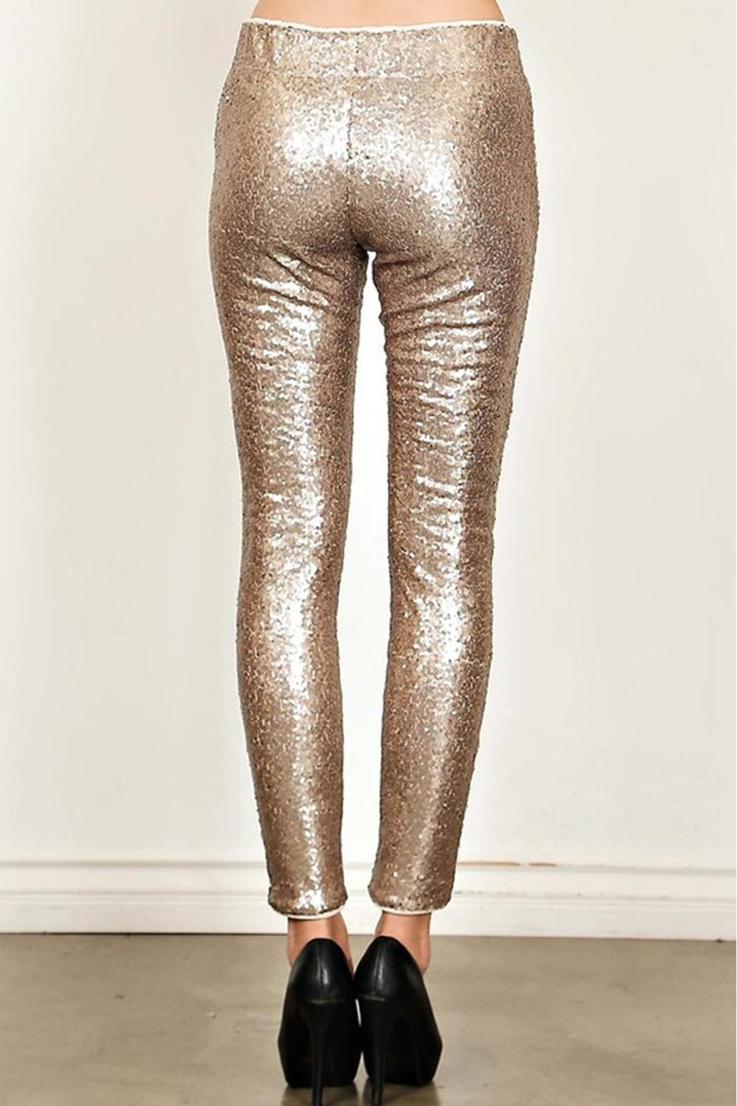 True Love Sequin Skinny Pants - Front Full Image