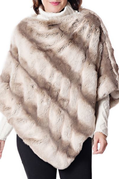 Fabulous Furs Faux Fur Couture Poncho - Product List Image