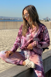 Lovestitch  Truly Madly Deeply Tie Dye Sweatshirt - Product Mini Image