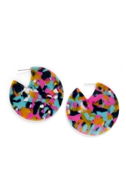 Tselaine Acetate Disc Earring - Front cropped