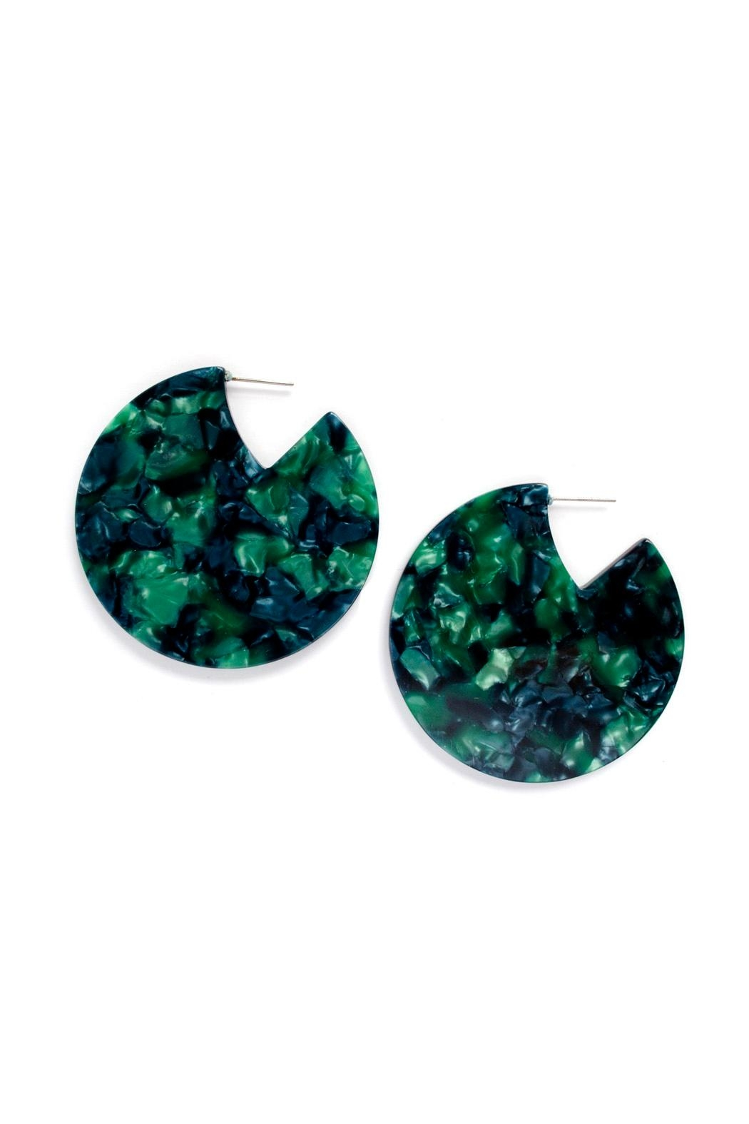Tselaine Acetate Disc Earrings - Front Cropped Image