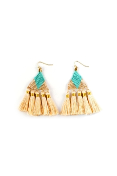 Shoptiques Product: Beaded Tassel Earring