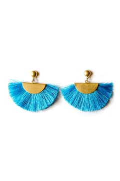 Shoptiques Product: Blue Fan Earrings