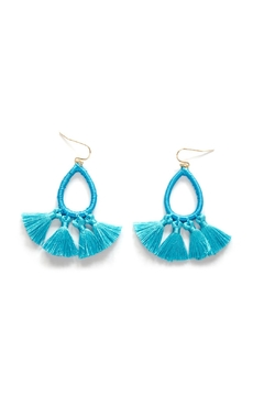 Shoptiques Product: Blue Tassel Earring