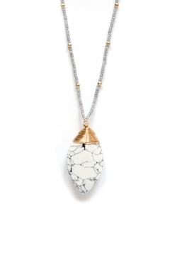Shoptiques Product: Long Howlite Necklace