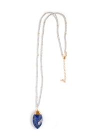 Tselaine Long Lapis Necklace - Front full body